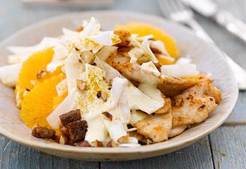 Sellerie-Hühner-Salat mit Orangen Foto: © Maike Jessen