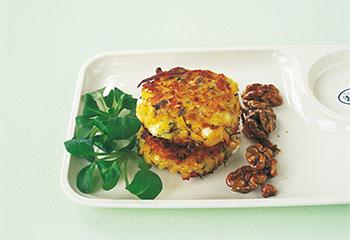 Couscoustaler mit Salat und Honignüssen Foto: © Deirdre Rooney