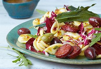 Orecchiette-Salat mit Cabanossi Foto: © Thorsten Suedfels