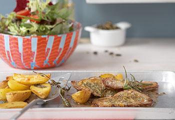 herbstlicher Salat mit Zitronen-Schnitzelchen Foto: © Carsten Eichner