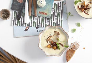 Erdäpfelcremesuppe mit Pilzen Foto: © Carsten Eichner