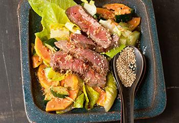 Asia-Rindfleischsalat mit Papaya
