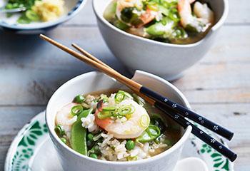 Misosuppe mit Garnelen und Reis Foto: © William Meppem