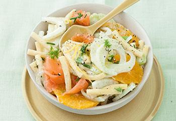 Nudel-Lachs Salat Foto: © Wolfgang Schardt