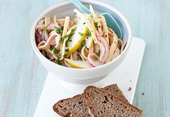 Käse-Schinken-Salat mit Birne Foto: © Wolfgang Schardt