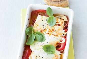Gebackener Feta mit Tomaten Foto: © Wolfgang Schardt