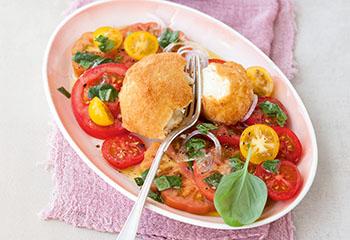 Paradeisersalat mit gebackenem Mozzarella Foto: © Wolfgang Schardt