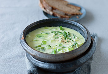 Lauch-Käsesuppe Foto: © Wolfgang Schardt