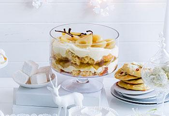 Trifle mit pochierten Birnen Foto: © Ben Dearnley