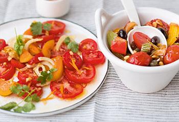 Marillen-Tomatensalat Foto: © Wolfgang Schardt