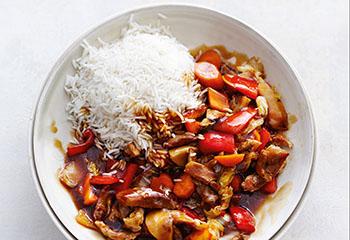 Chop Suey mit Reis Foto: © Thorsten Suedfels