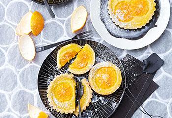Clementinen-Tartelettes mit Crème fraîche Foto: © Janne Peters