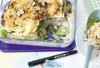 Lasagne mit Kohl und Pilzen Foto: © Monika Schürle