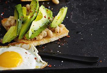 Toast mit Avocado und Spiegelei Foto: © Thorsten Suedfels