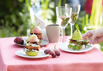 Pikante Birnen-Burger Foto: © Maria Grossmann & Monika Schürle