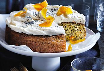 Orangen-Mohnkuchen mit Frischkäse-Frosting Foto: © Ben Dearnley