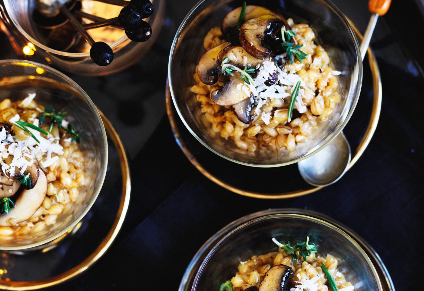 risotto mit champignons und kr utern frisch gekocht. Black Bedroom Furniture Sets. Home Design Ideas