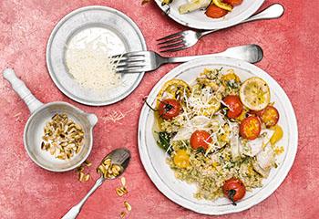 Bulgur-Quinoa-Risotto mit Gemüse Foto: © Wolfgang Schardt