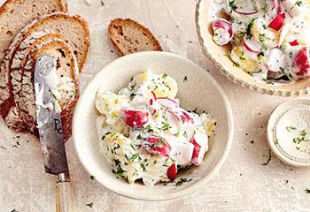 Erdäpfel-Radieschen-Salat mit Joghurtdressing Foto: © Thorsten Suedfels