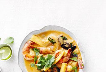 Garnelen-Malanzani-Curry mit Reis Foto: © Thorsten Suedfels