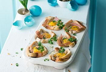 Toast-Muffins mit Ei, Cheddar und Schinken Foto: © Wolfgang Schardt