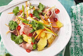 Salat vom Beinfleisch mit Limetten-Soja-Marinade Foto: © Monika Schürle