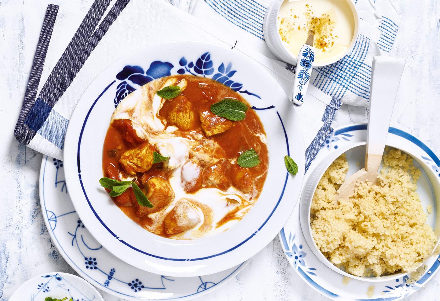 Joghurt putencurry mit couscous frisch gekocht for Koch gerichte