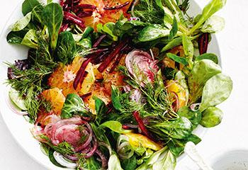 Salat mit roten Rüben und Orangen Foto: © Thorsten Suedfels