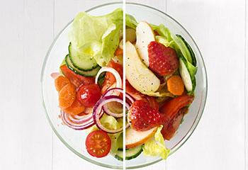 Frühlingssalat pikant oder fruchtig Foto: © Wolfgang Schardt