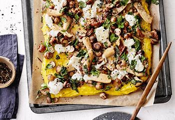 Polenta-Gratin mit Pilzen und Mozzarella Foto: © Janne Peters
