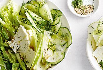 Gurken-Apfel-Salat mit Feta Foto: © Thorsten Suedfels
