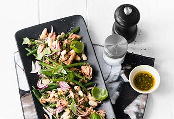 Bohnen-Thunfisch-Salat Foto: © Wolfgang Schardt