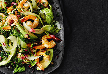 Selleriesalat mit Avocado und Garnelen Foto: © Thorsten Suedfels