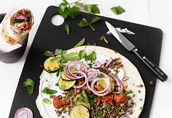 Burrito mit Faschiertem und Zucchini Foto: © Wolfgang Schardt