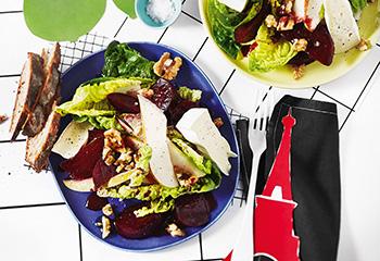 Rote-Rüben-Salat mit Birnen und Käse Foto: © Monika Schürle
