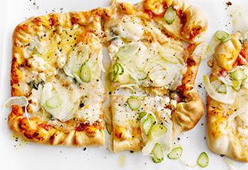 Pizza Quatro Formaggi mit Fenchel Foto: © Thorsten Suedfels