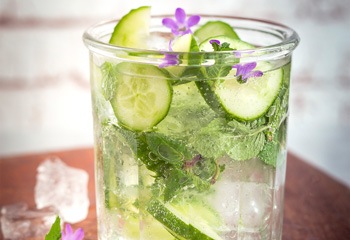 Detox-Wasser mit Gurke und Minze Foto: © Eising Studio