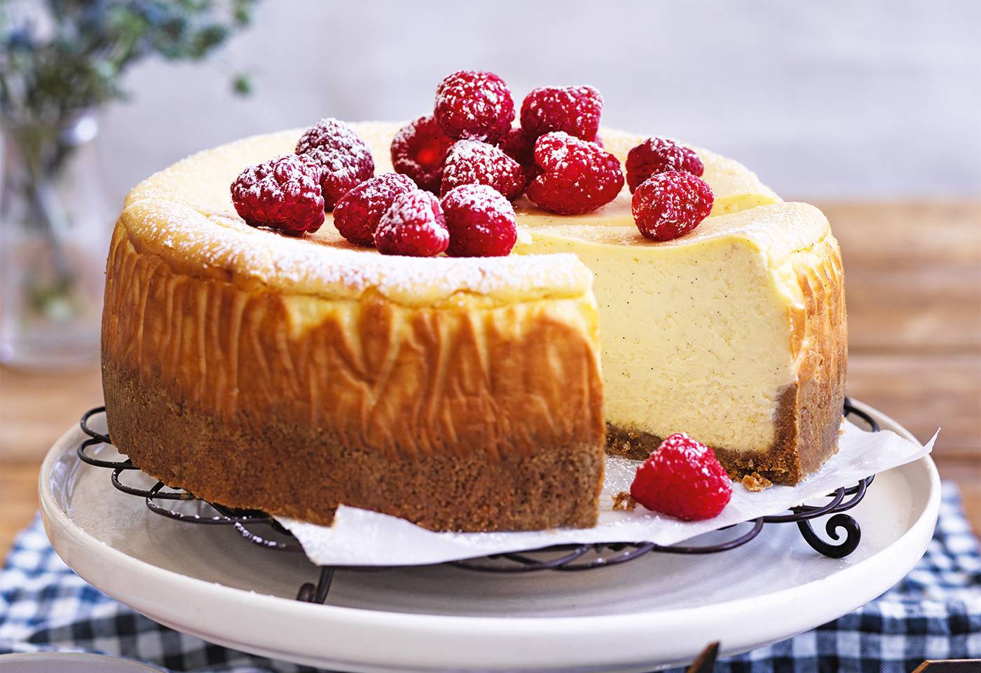 New York Cheese Cake Mit Himbeeren