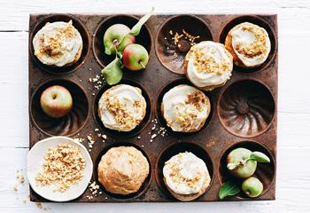 Apfelmuffins mit Ricottacreme und Apfel-Nuss-Dukkah Foto: © StockFood