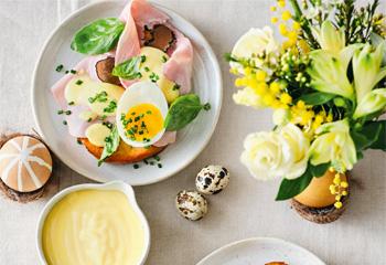 Trüffel-Eggs-Benedict auf Osterpinze Foto: © Thorsten Suedfels