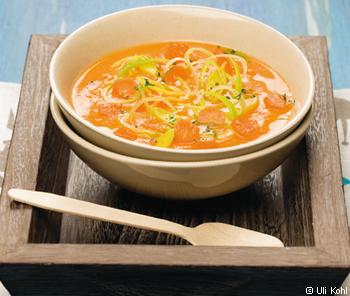 Karotten-Lauch-Cremesuppe
