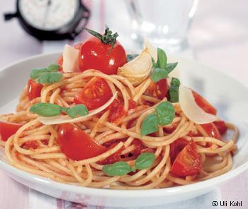 Spaghetti mit frischer Toamtensauce