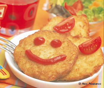 Kartoffelpuffer mit selbst gemachtem Ketchup