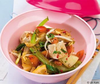 Sojasprossengemüse mit Tofu