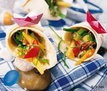 Tortillas mit Gemüsefülle