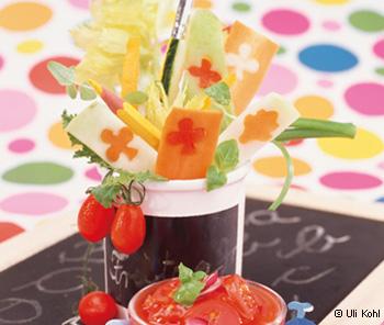 Gemüsepommes mit Ketchup-Dip