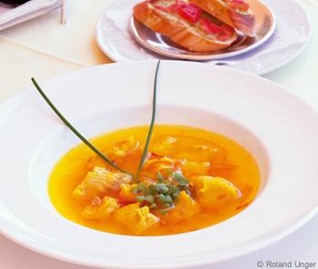 Bouillabaisse mit Tomaten-Bruschetta