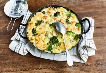 Kartoffelauflauf mit Brokkoli