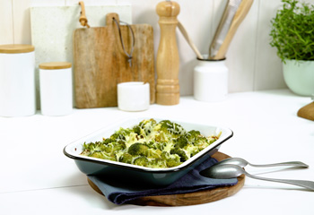 Kartoffelauflauf mit Faschiertem und Brokkoli