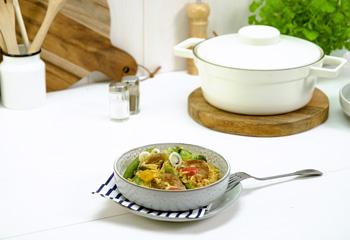 Reispfanne mit Schweinefilet und italienischem Gemüse